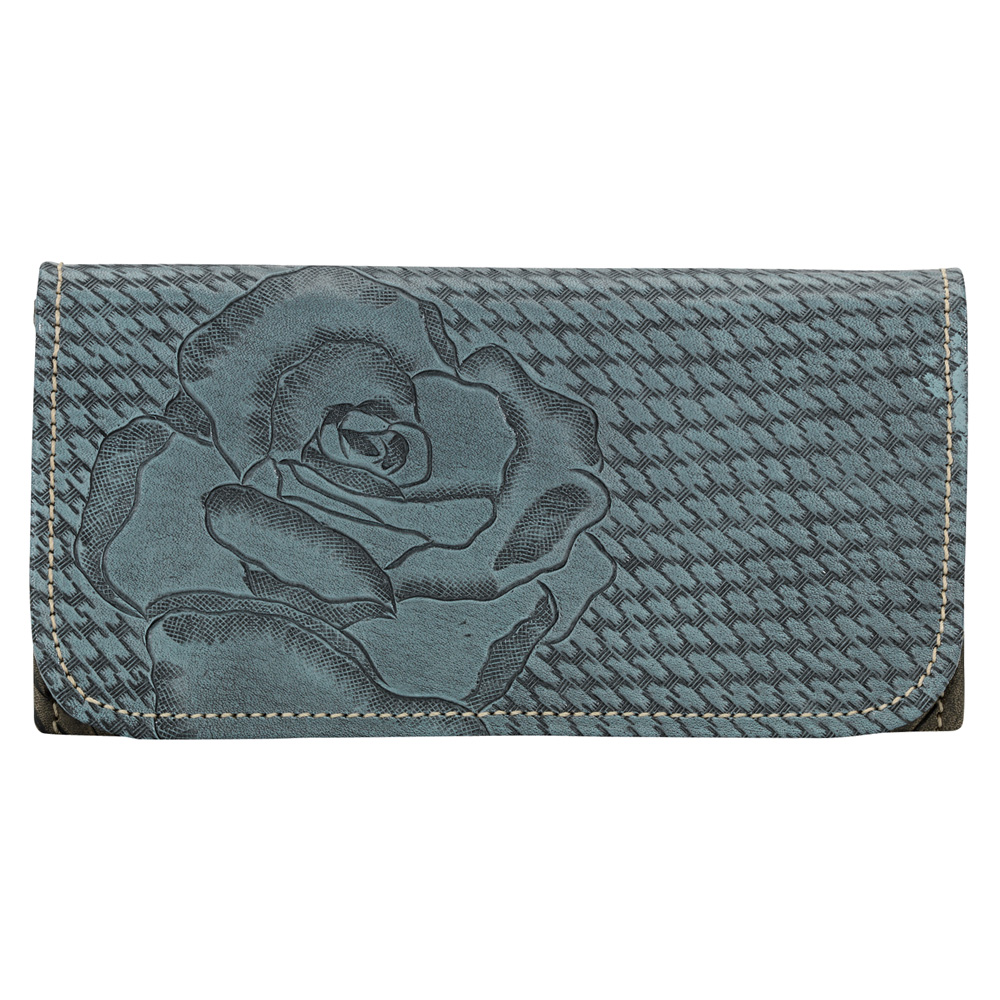 AMERICAN WEST Coming Up Roses Ladies Tri-Fold Wallet