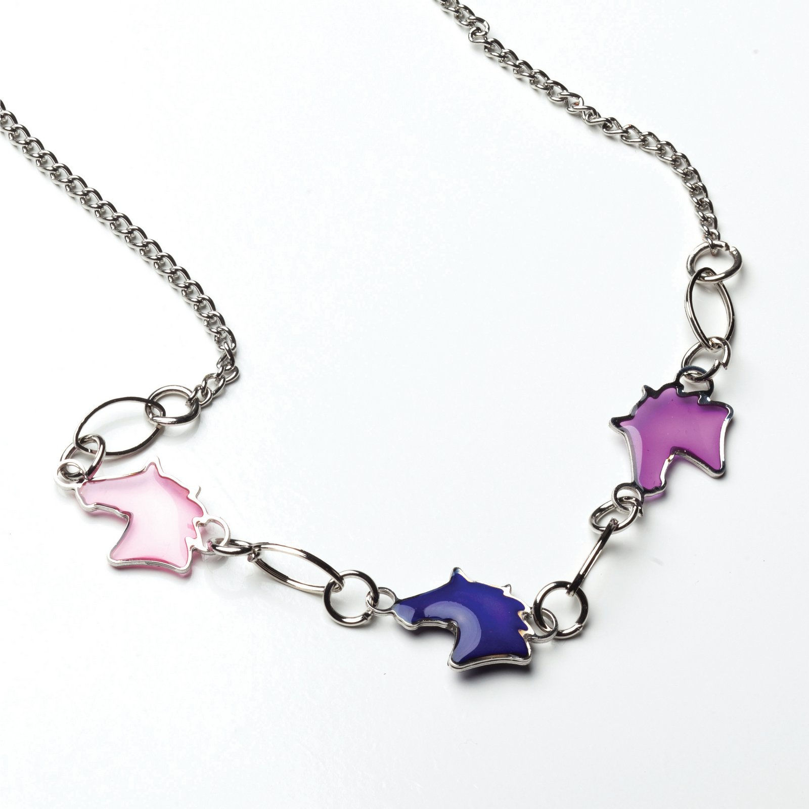 Horse Heads Mood Necklace