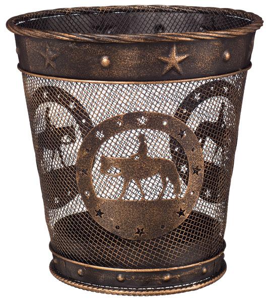 Gift Corral Small Waste Basket - Western Pleasure