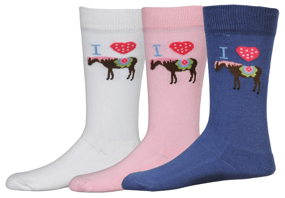 TuffRider I Heart Pony Child's 3 Pack Socks