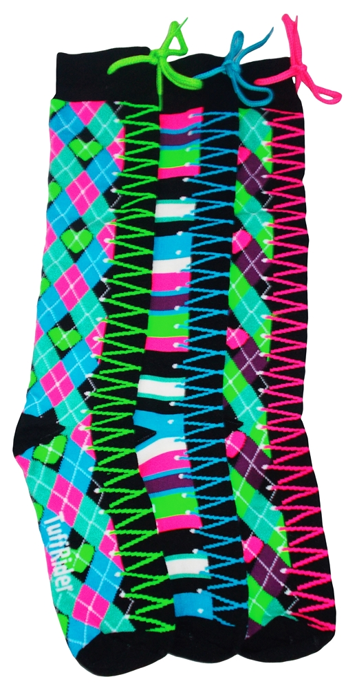 TuffRider Kick Start Child's Argyle Knee High 3 Pack Socks