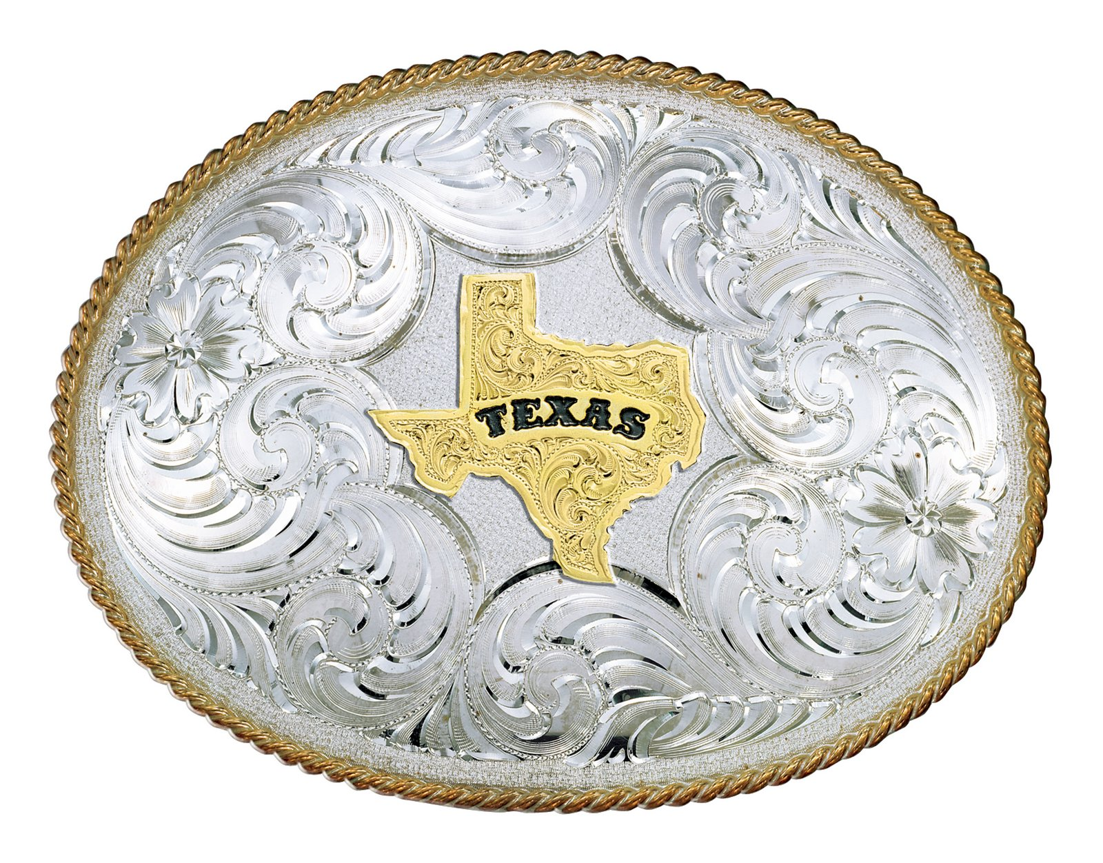 Montana Silversmiths Twisted Rope Texas Buckle