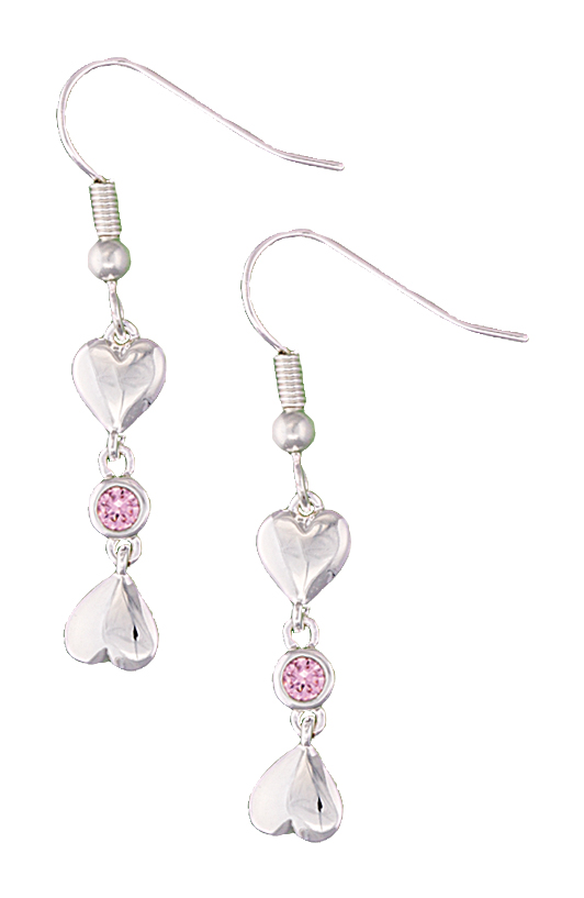 Montana Silversmiths Heart 2 Heart Earrings with Pink Crystal