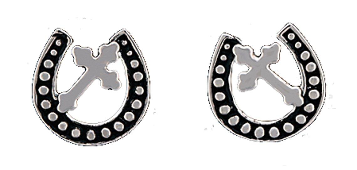 Montana Silversmiths Walking God's Path Post Earrings
