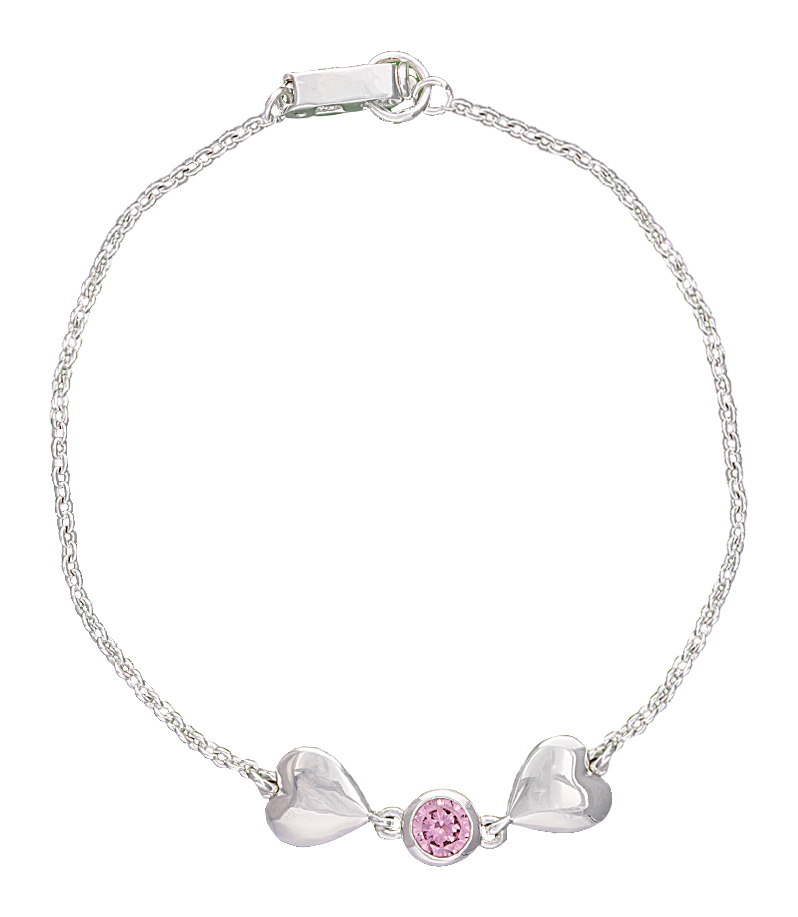 Montana Silversmiths Heart 2 Heart Bracelet with Pink Crystal