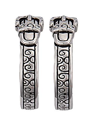 Montana Silversmiths Belt And Buckle Hoop Earrings