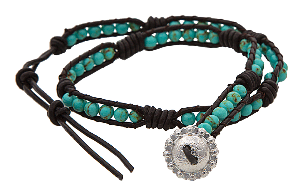 Montana Silversmiths Turquoise Counting Beads Wrap Bracelet