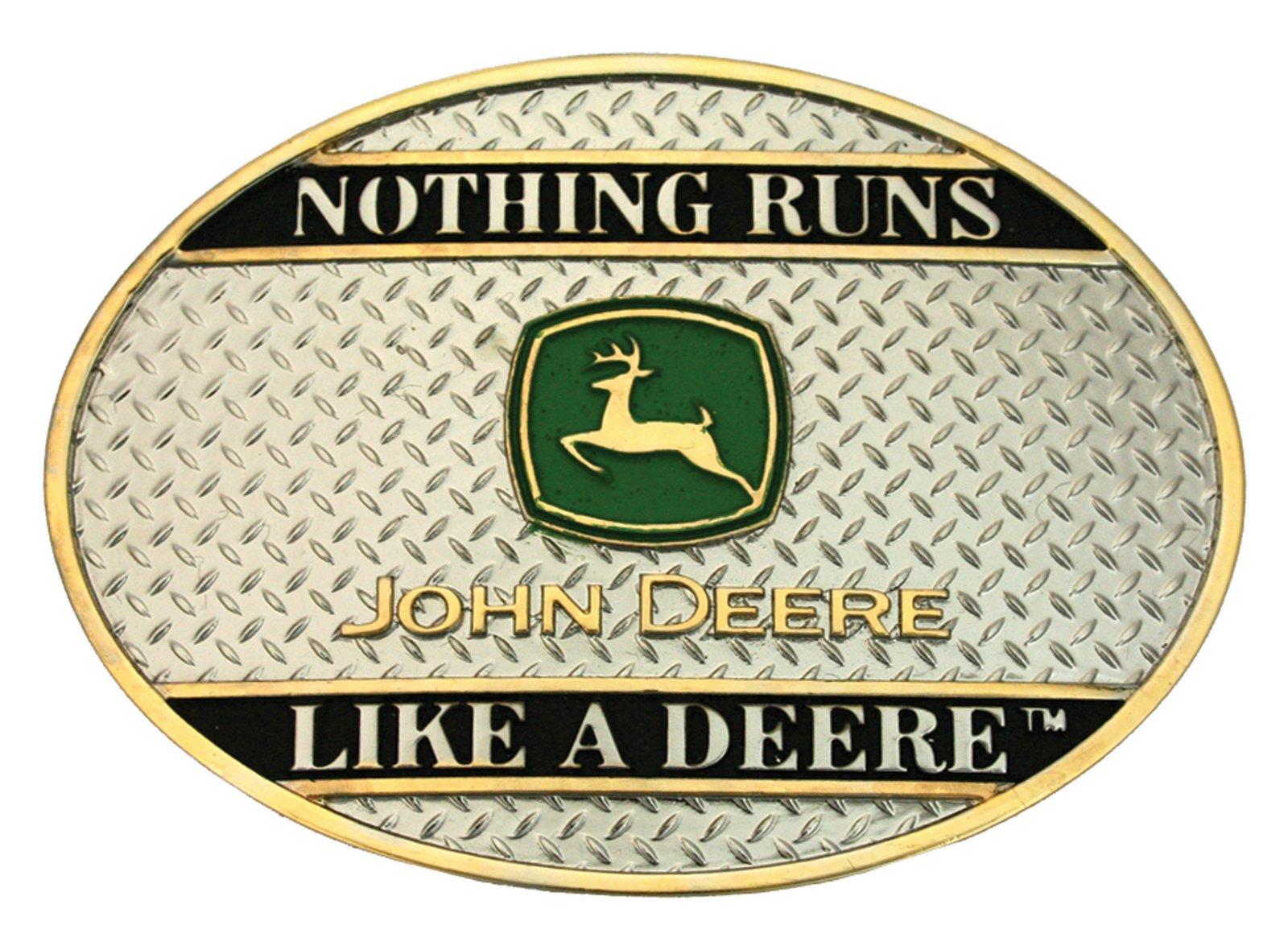 Montana Silversmiths John Deere: Nothing Runs Like A Deere On Sheet Metal Attitude Buckle