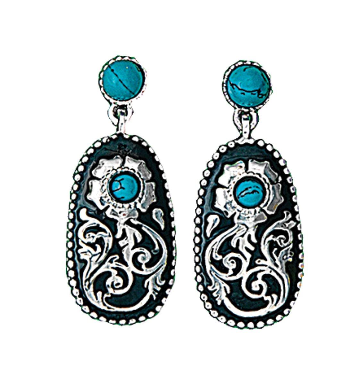 Montana Silversmiths Turquoise Posy Drop Earrings