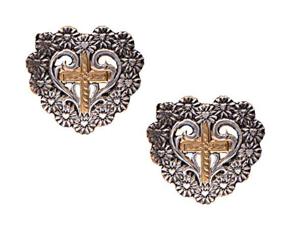 Montana Silversmiths Classics A Bouquet Of Love And Faith Earrings