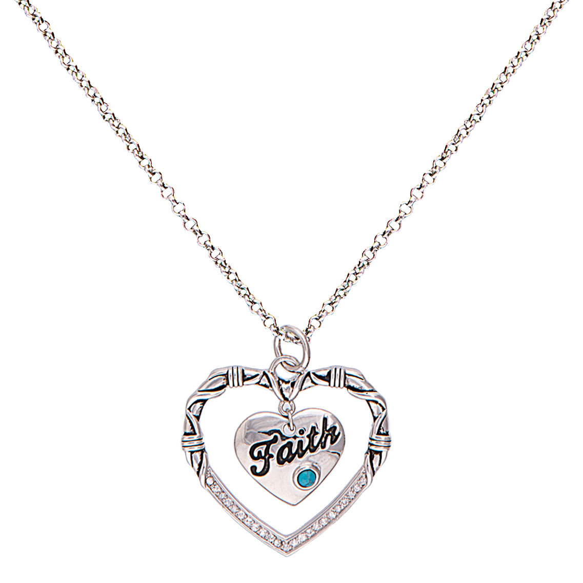 Montana Silversmiths A Cowgirl's Heart Of Faith Necklace