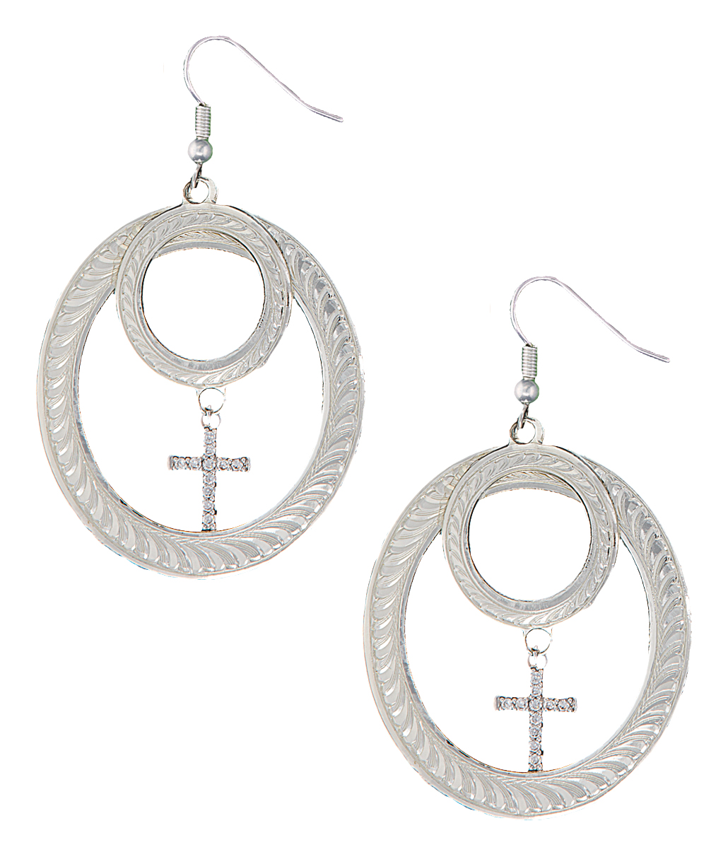 Montana Silversmiths Roping On Faith Earrings