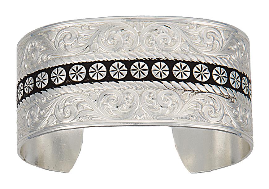 Montana Silversmiths Western Deco Silver Cuff Bracelet