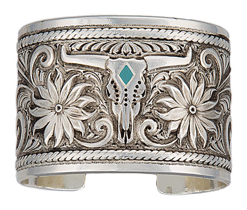 Montana Silversmiths Longhorn Garden Cuff Bracelet