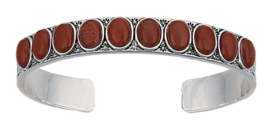 Montana Silversmiths Canyon Colors Red Stone And Silver Cuff Bracelet