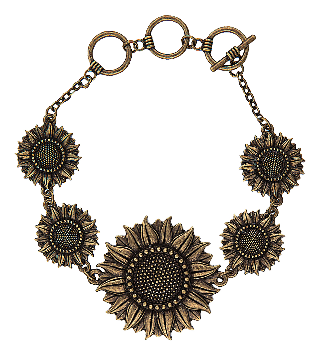 Montana Silversmiths Velvet Queen Sunflower Posy Bracelet