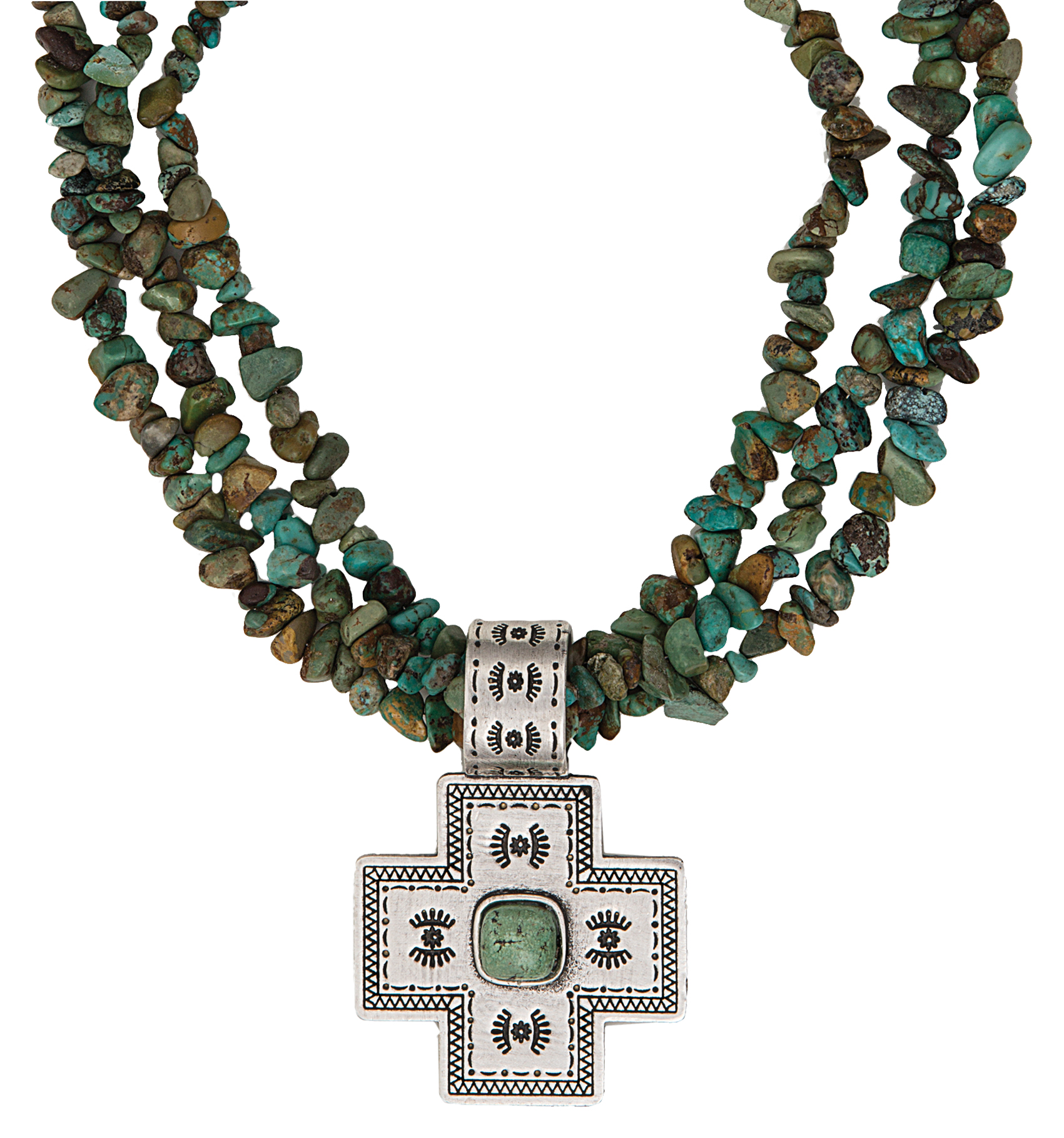 Montana Silversmiths Desert Mesa Cross Necklace
