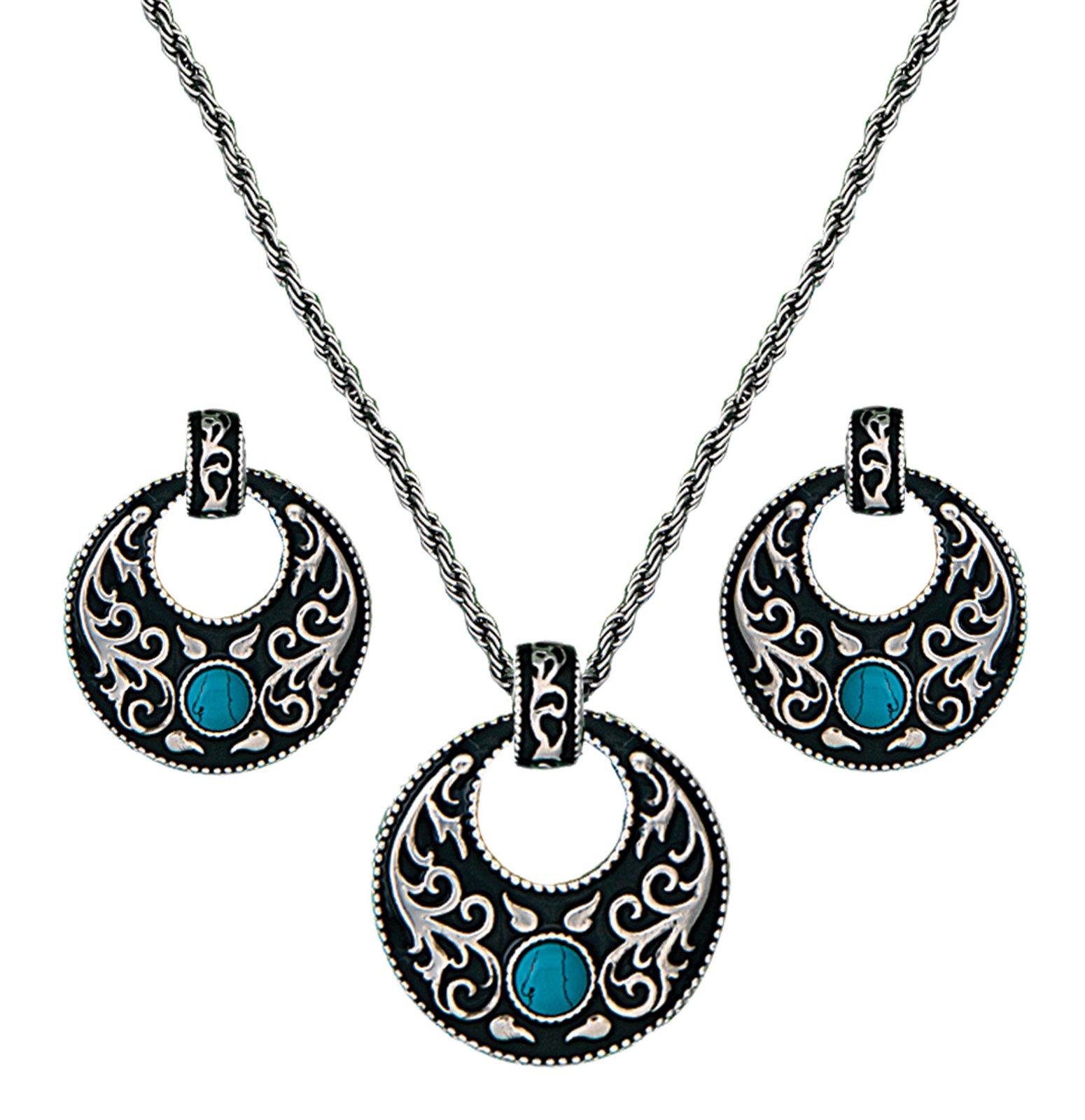 Montana Silversmiths Turquoise Garden Jewelry Set
