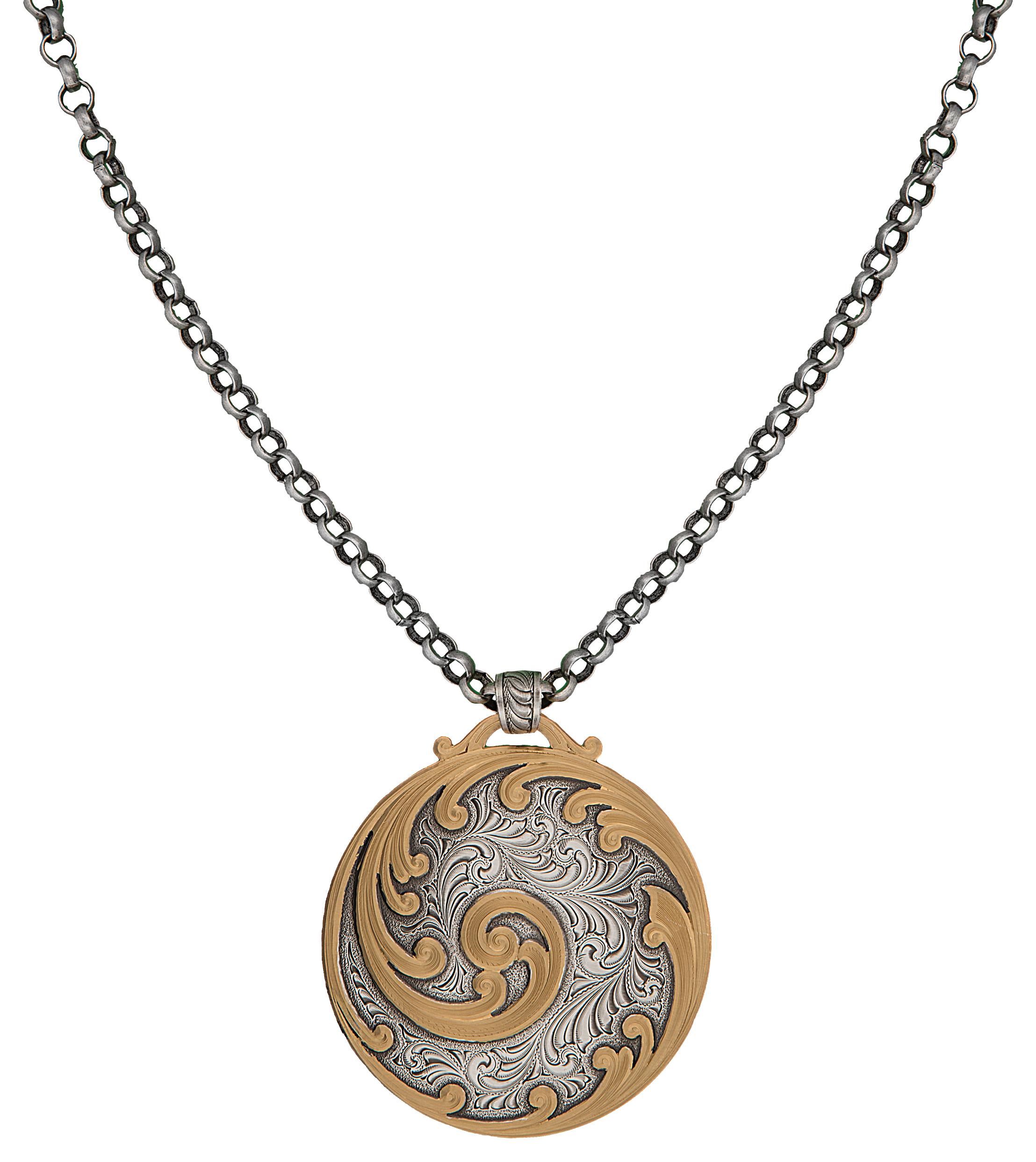 Montana Silversmiths Classics Western Zen Concho Necklace
