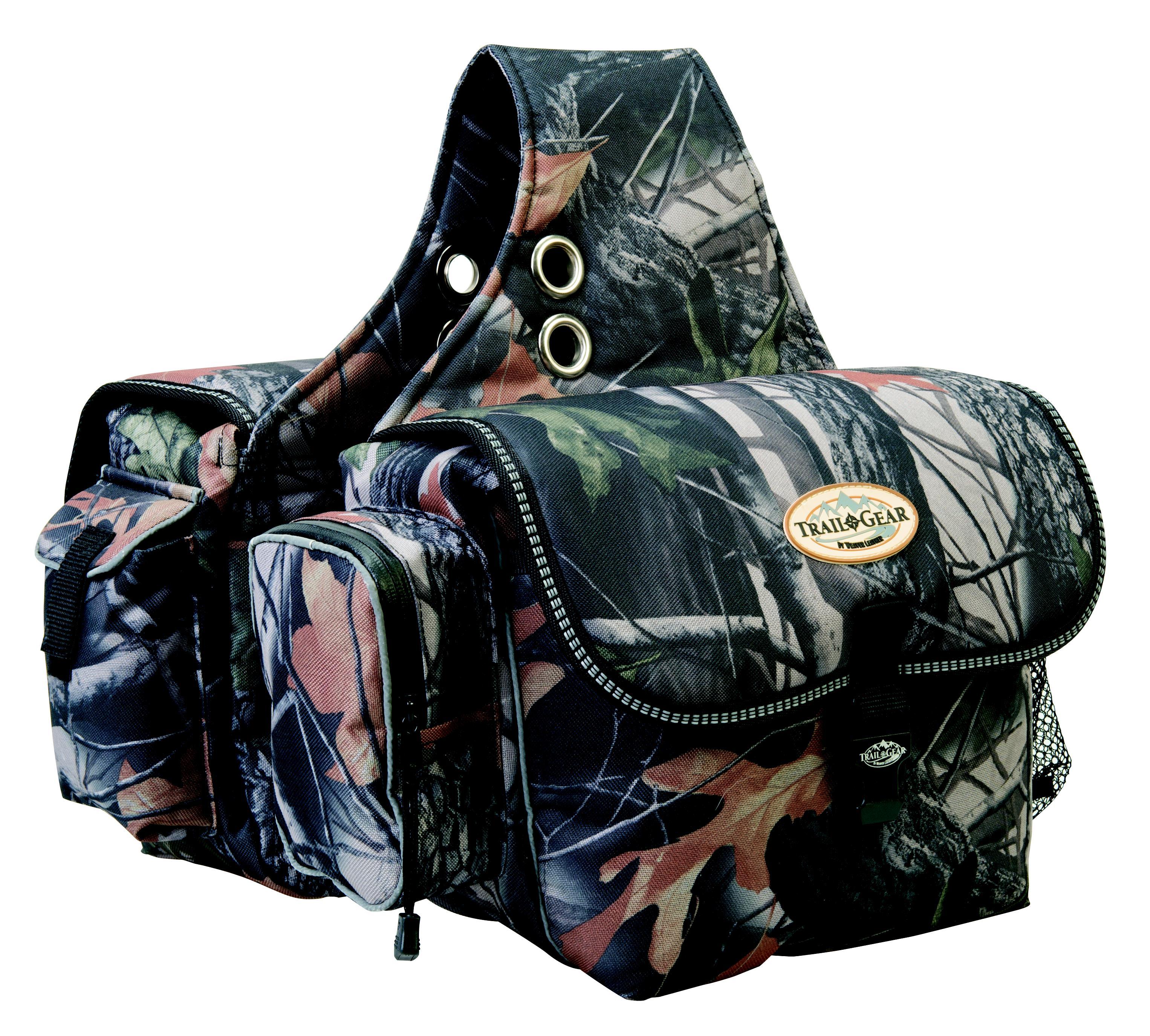 Weaver Leather Trail Gear Saddle Bag, Camo