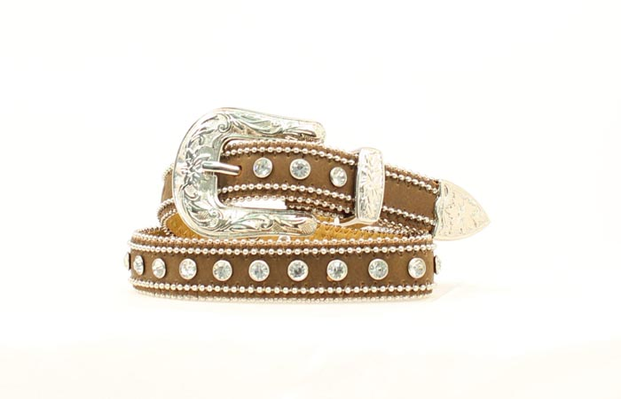 Nocona Girls Rhinestone Studded Belt