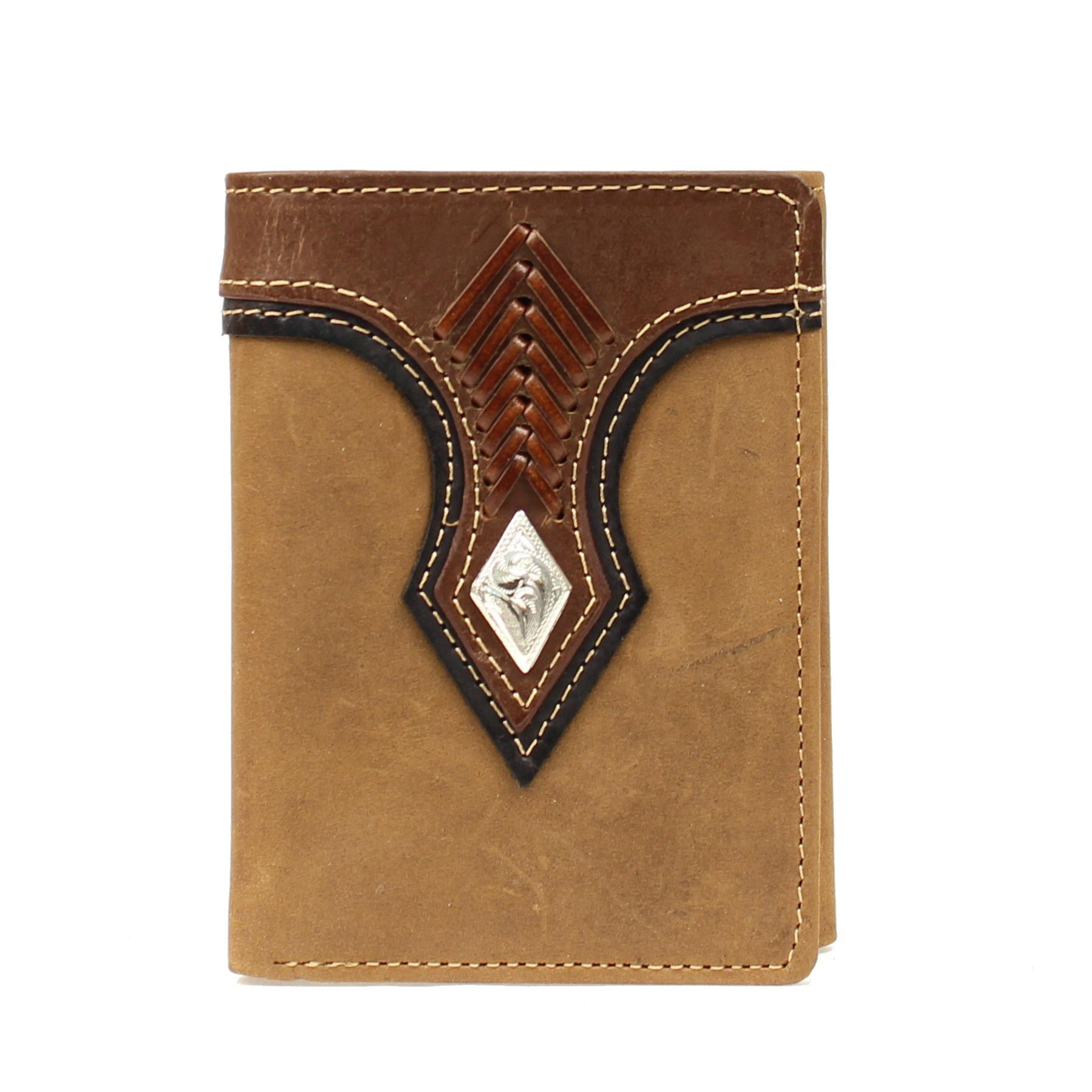 Nocona Top Hand Tri-fold with Diamond Concho