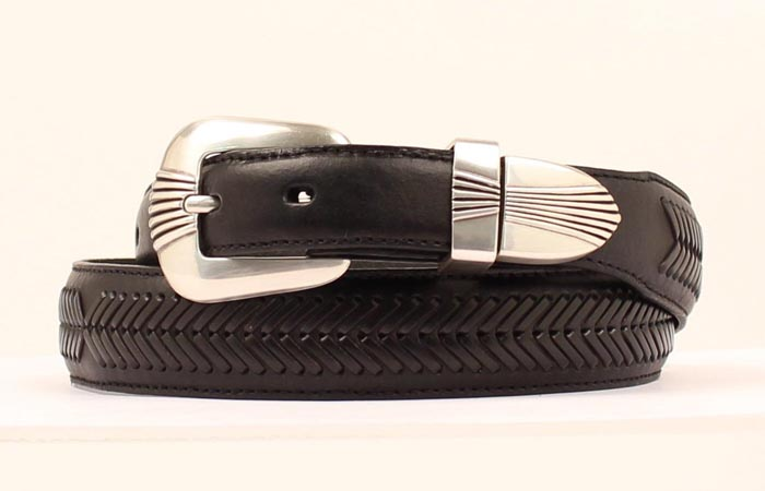 Nocona Men's Taper Belt with stitching