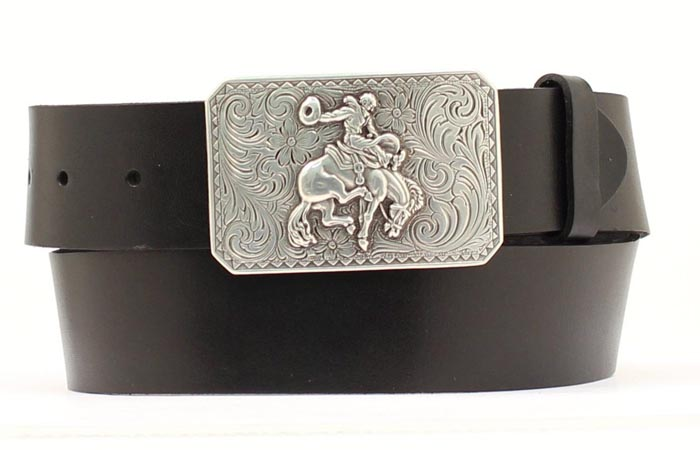 Nocona Men's Belt with Bronc Buckle