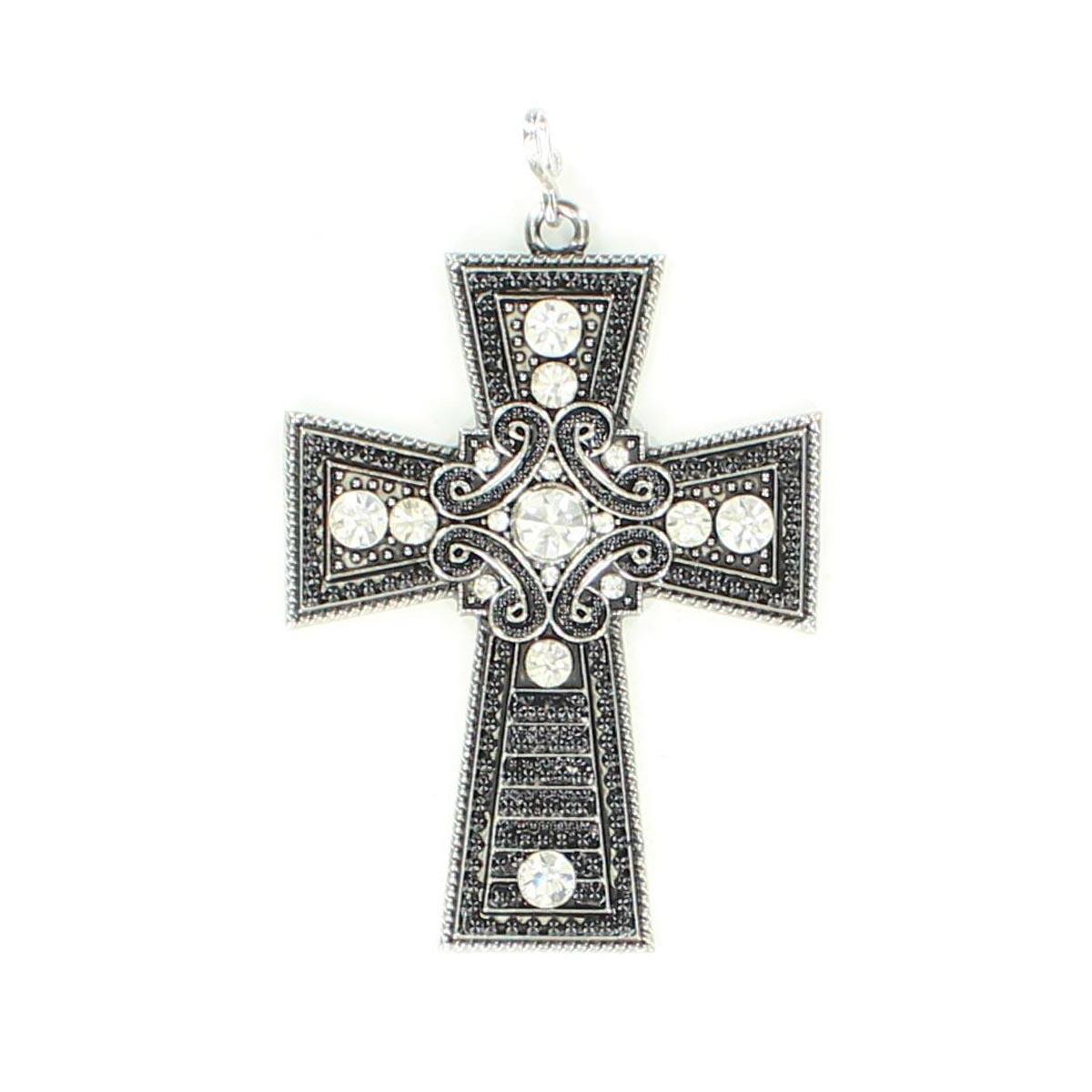Western Charm Stunning Cross Bead Pendant