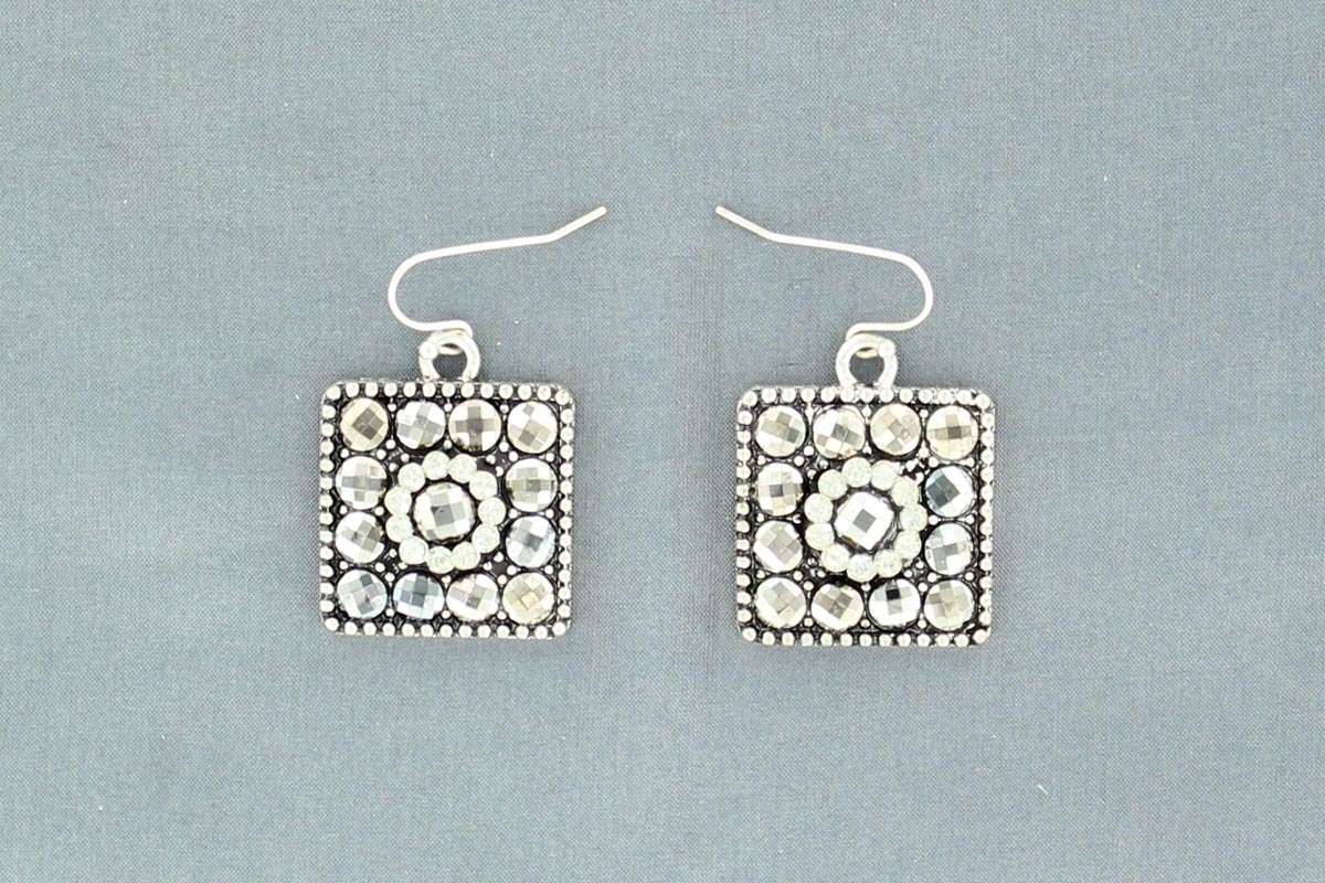 Blazin Roxx Square Earring with Small Stones
