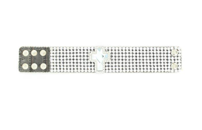 Blazin Roxx Mesh/Cross Bracelet