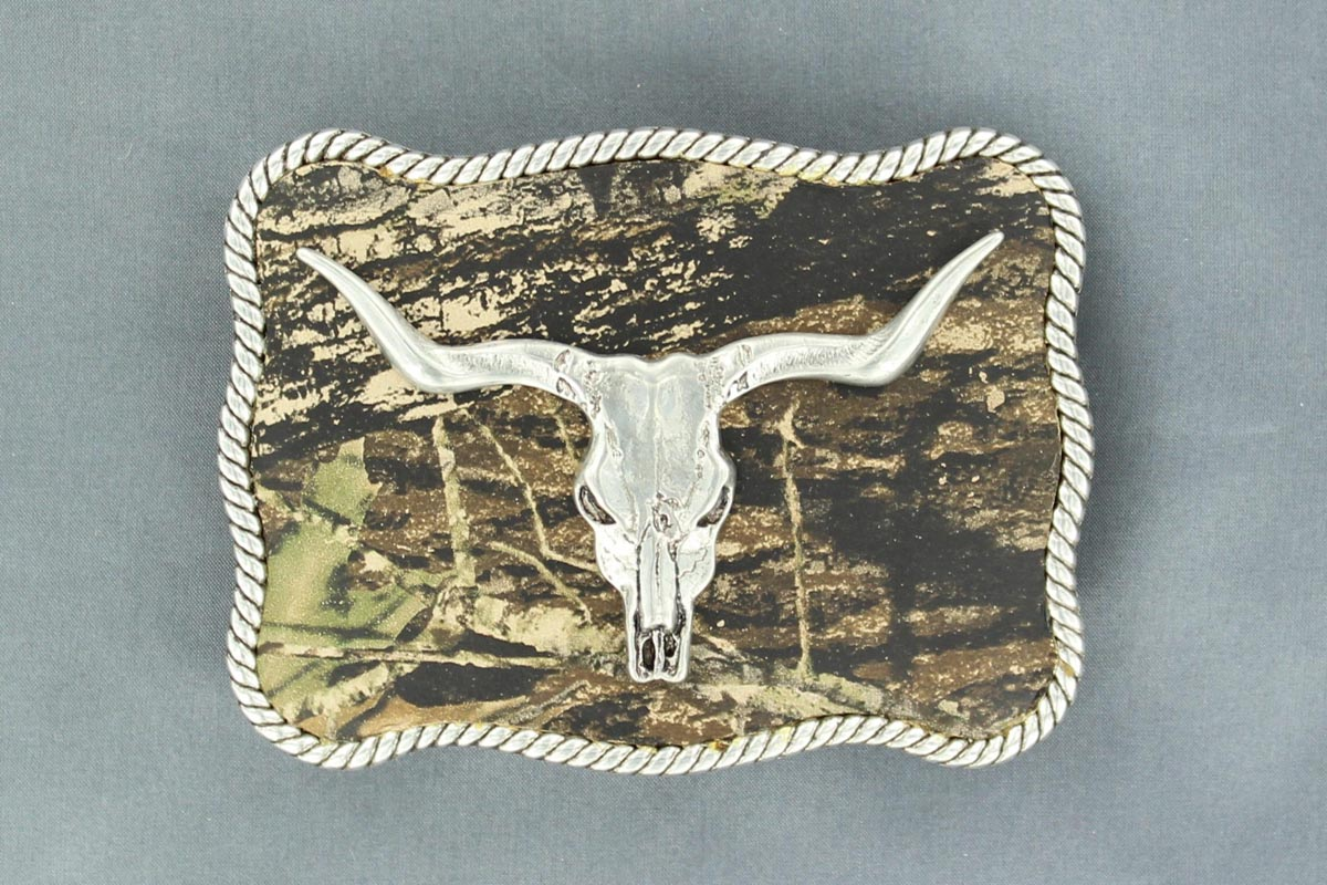 Nocona Longhorn Skull Buckle