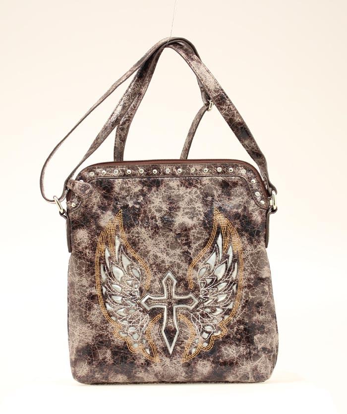 Blazin Roxx Cross/Wing Messenger Bag