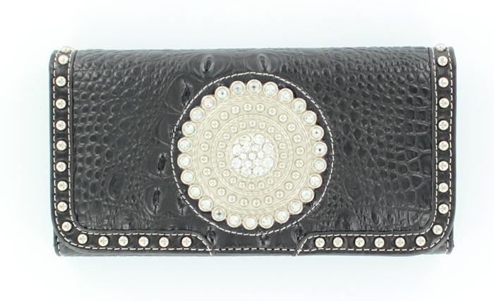 Blazin Roxx Round Concho Wallet
