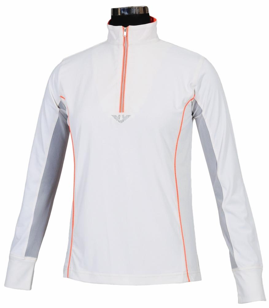 TuffRider Ladies' Neon Mock Zip Sport Shirt