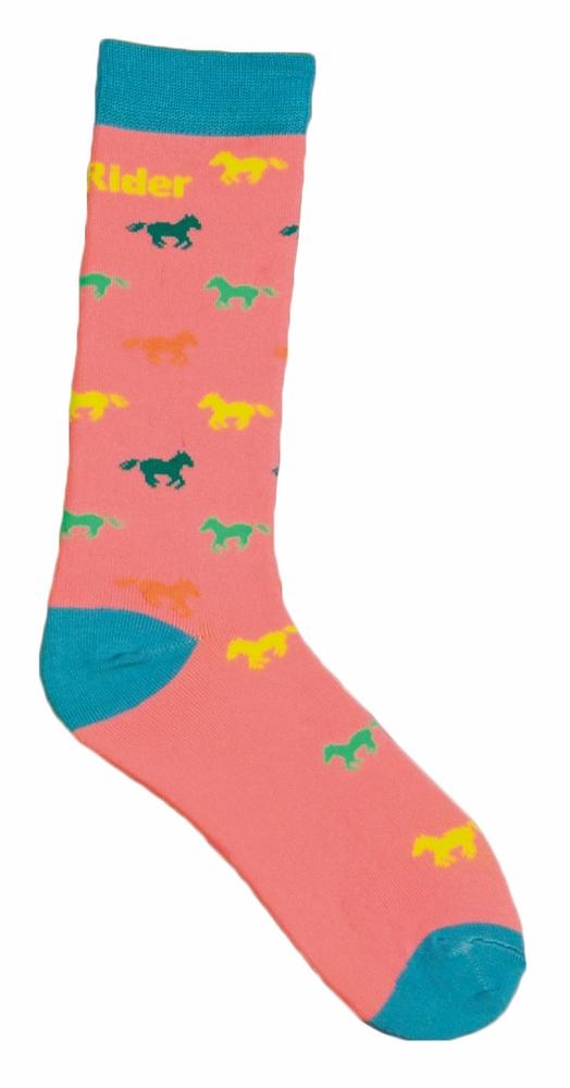 TuffRider Child's Neon Pony Kids Socks