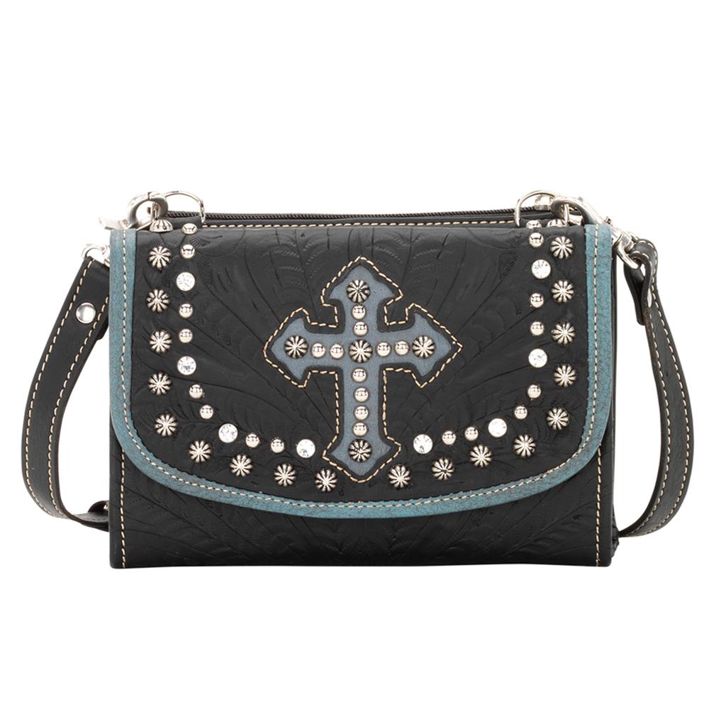 American West Texas Two Step Ladies' Handbag & Wallet Combo