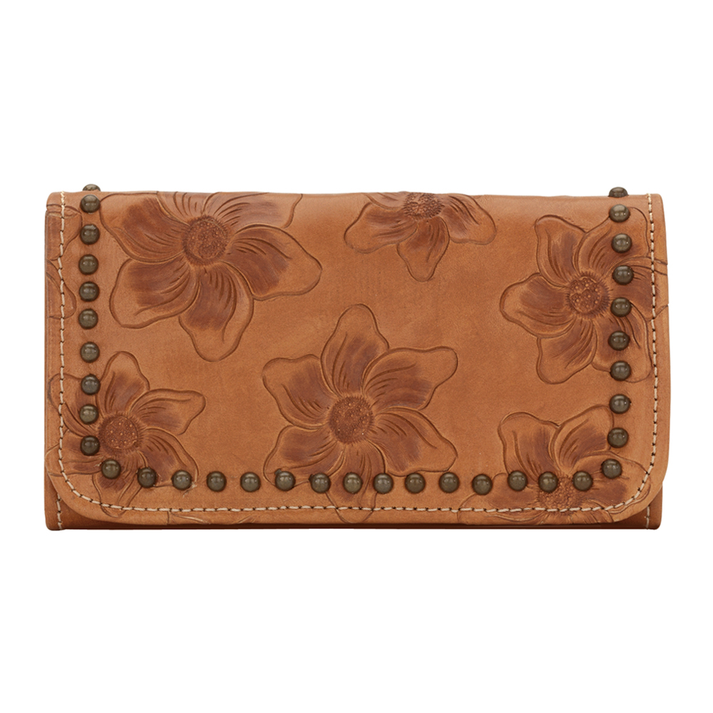 American West Flower Child Ladies' Tri-Fold Wallet