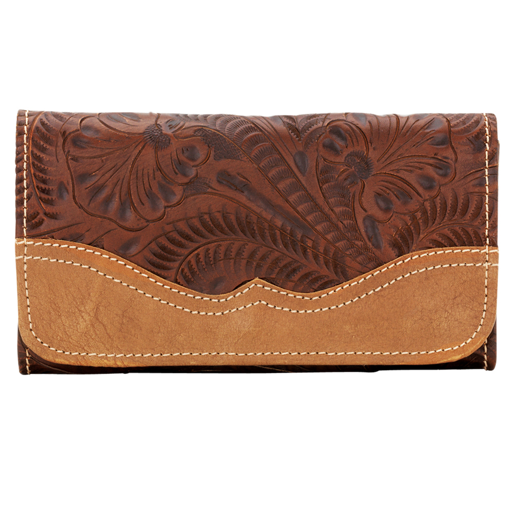 American West Birds of a Feather Ladies' Tri-Fold Wallet