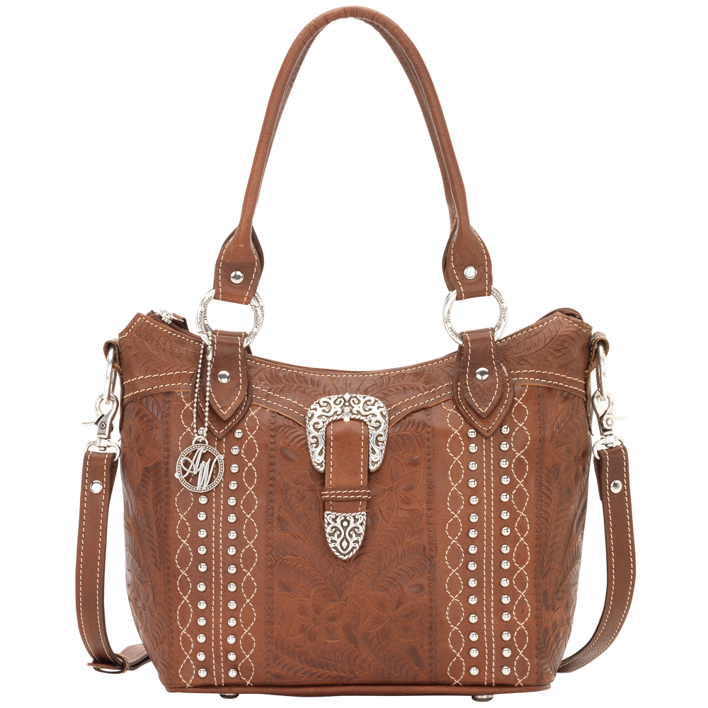 American West Twisted Trail Convertible Bucket Tote