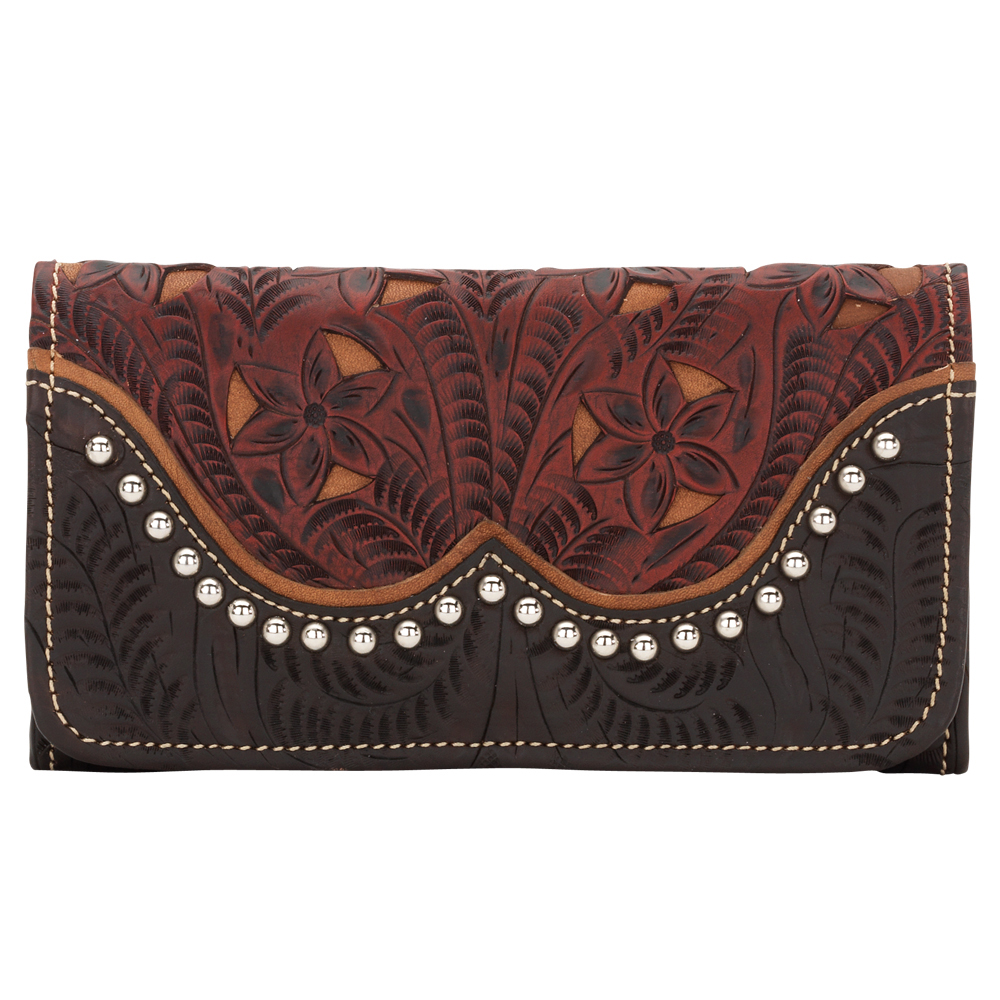American West Annie's Secret Collection Ladies' Tri-Fold Wallet