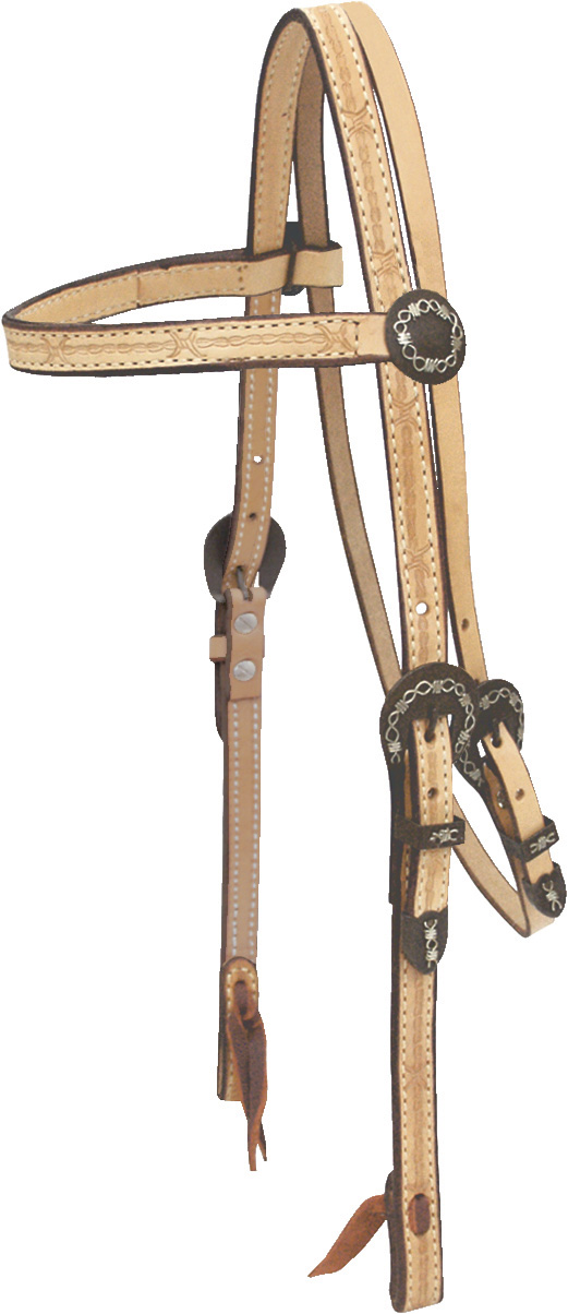 Billy Cook Saddlery Barbed Wire Brow Headstall