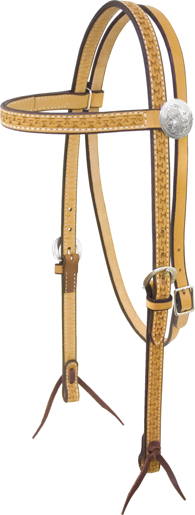 Billy Cook Saddlery Carlos Tooled Browband Headstall