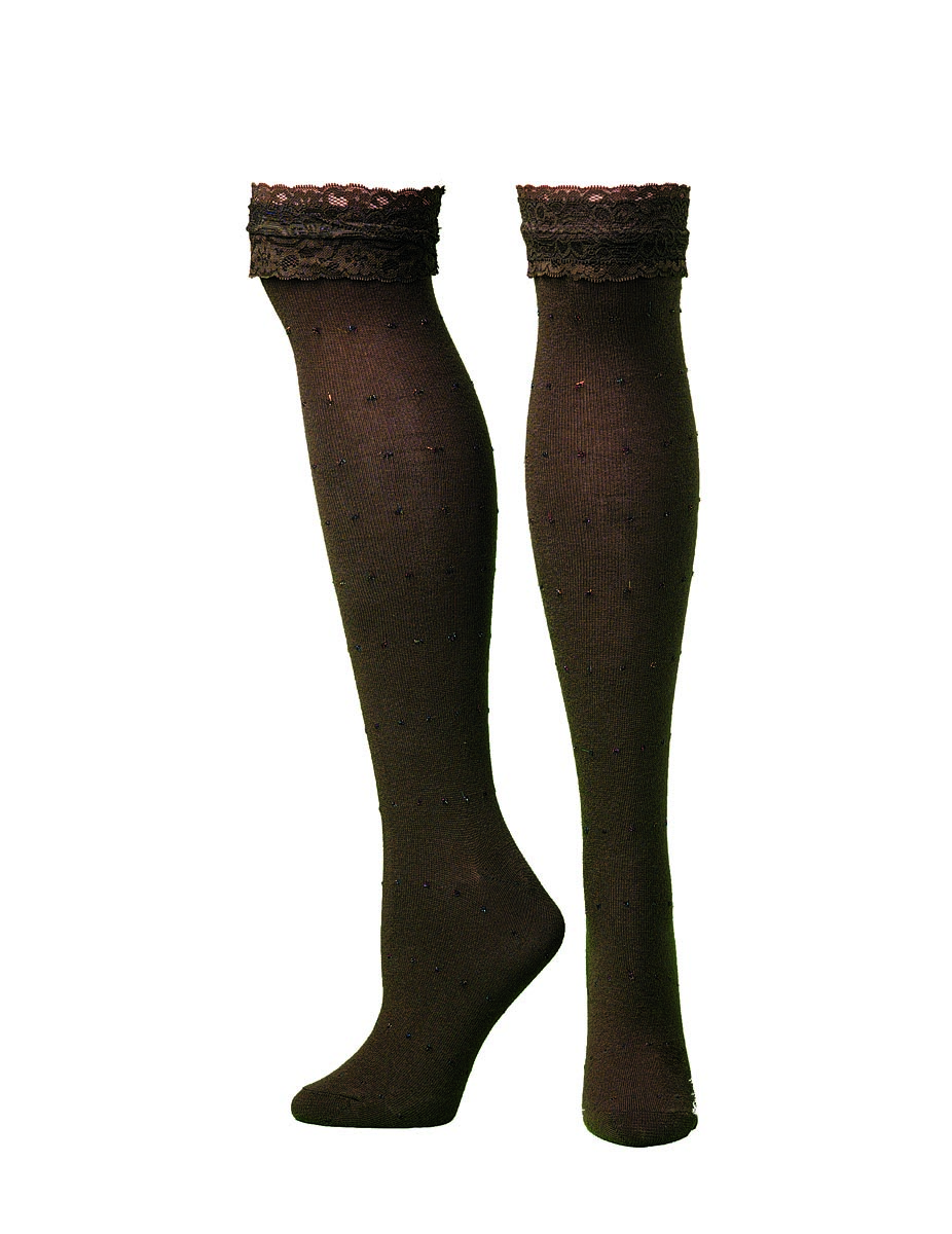 Blazin Roxx Knee Length Lacey Top Boot Sock