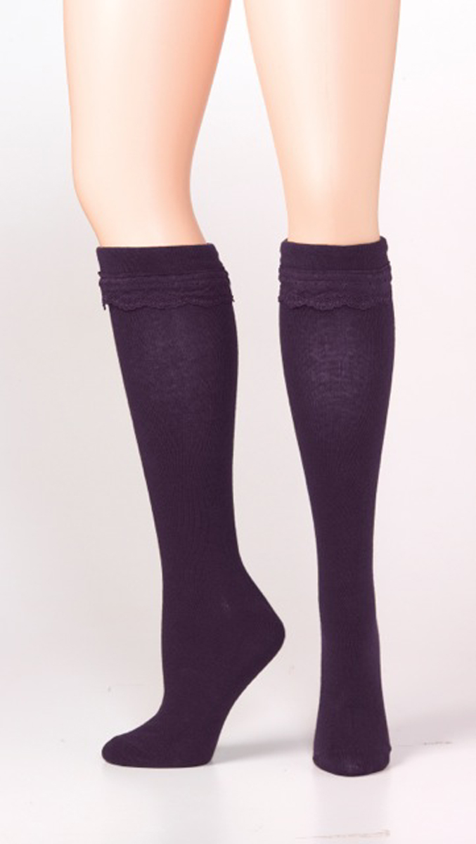 Blazin Roxx Knee Length Ribbon Sock