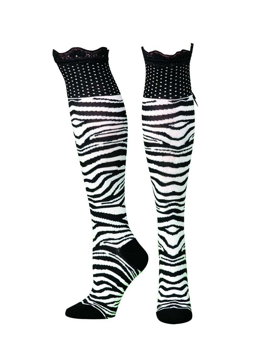 Blazin Roxx Knee Length Leopard Socks