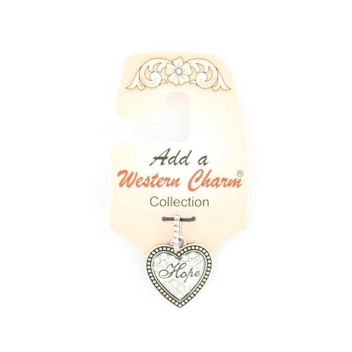 Western Charm Heart/Hope Charm