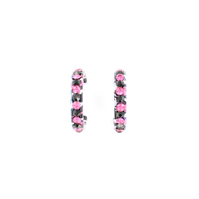 Blazin Roxx Crystal Hoops Earrings