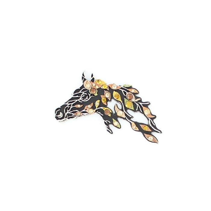 Western Charm Horse Head Top Pendant