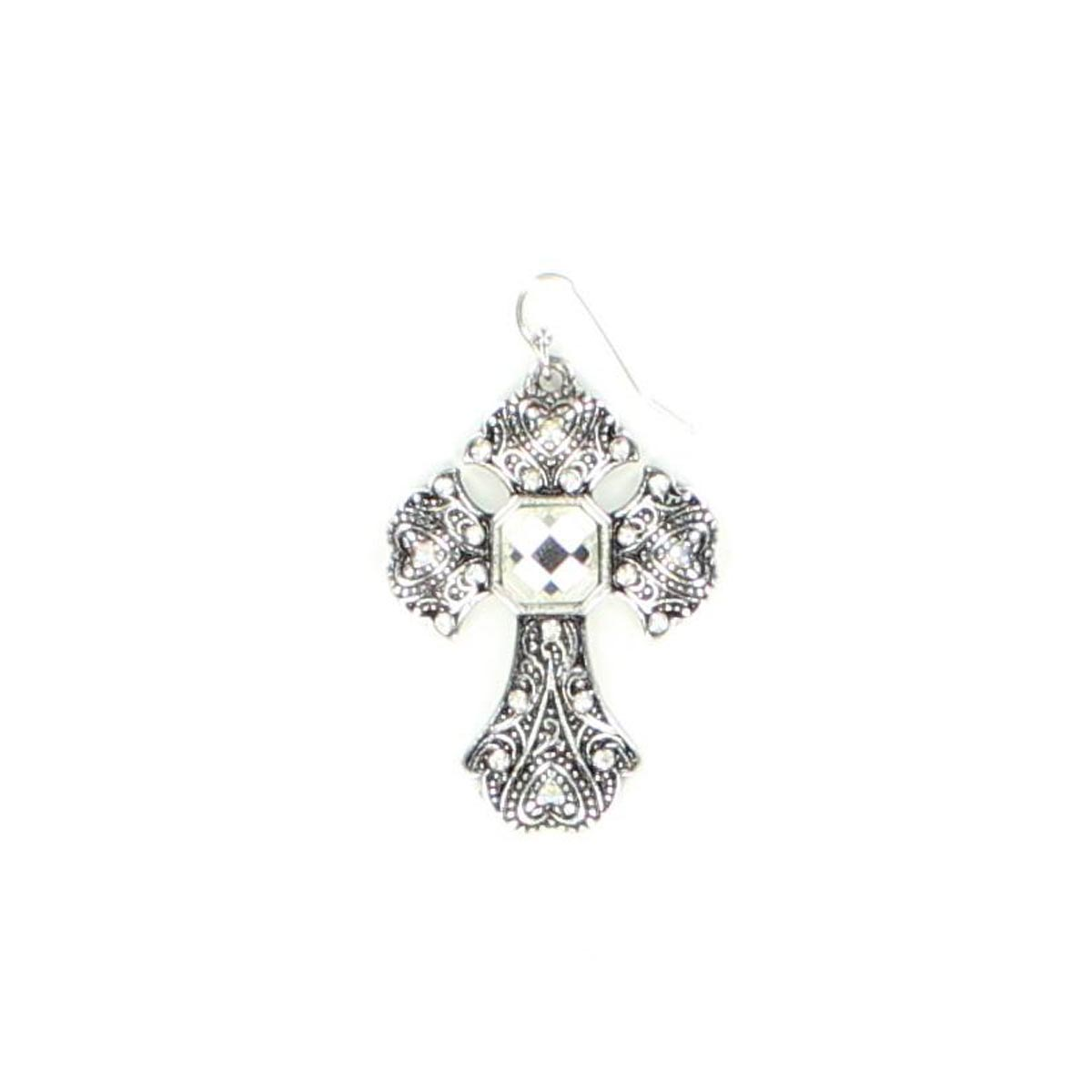 Blazin Roxx Square Center Cross Earrings
